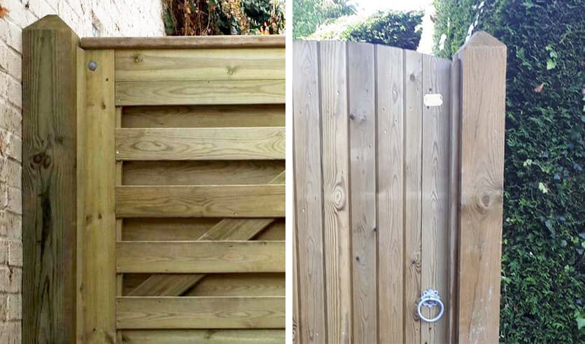 Sawn 4 way post recommended for Garden gate