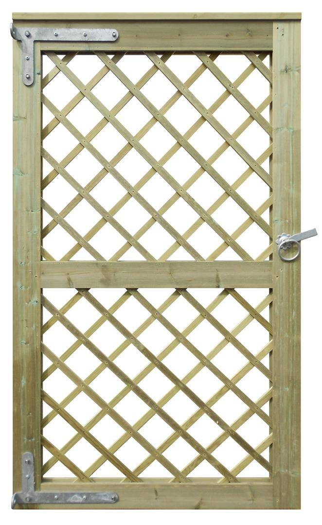Diamond Trellis Garden Gate back
