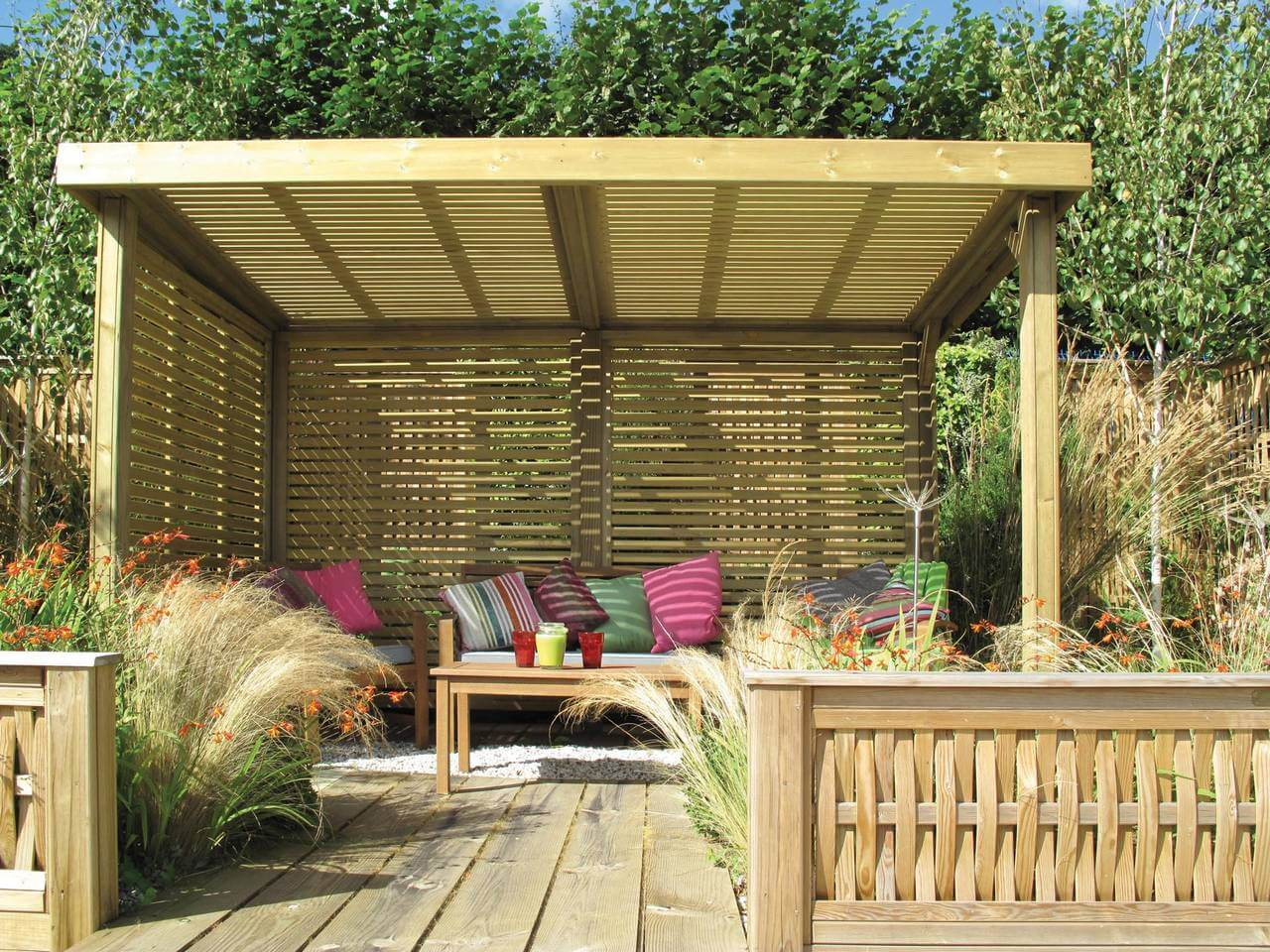 Lean To Patio Covered Wood: Retreat Garden Shelter