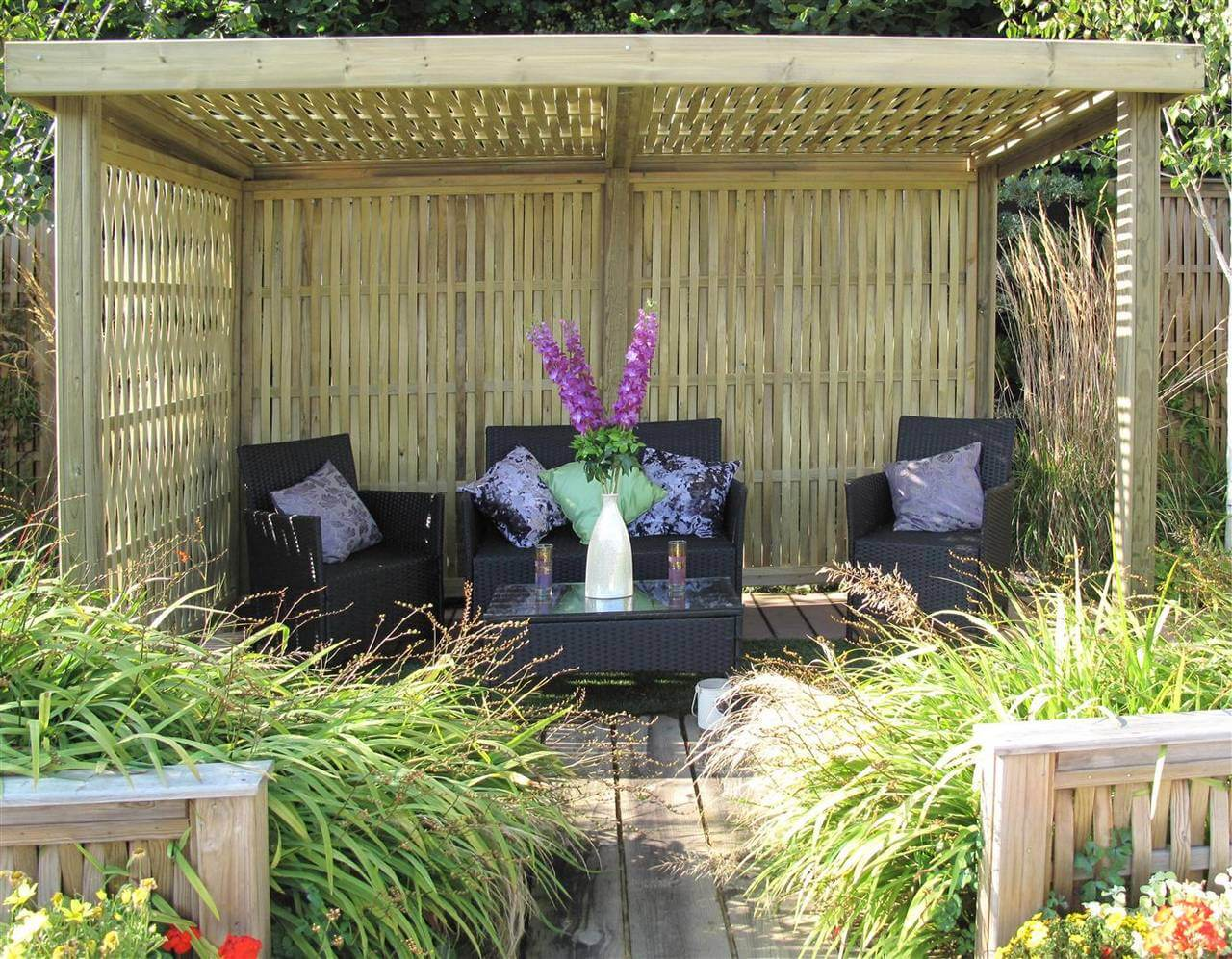 woven retreat garden shelter