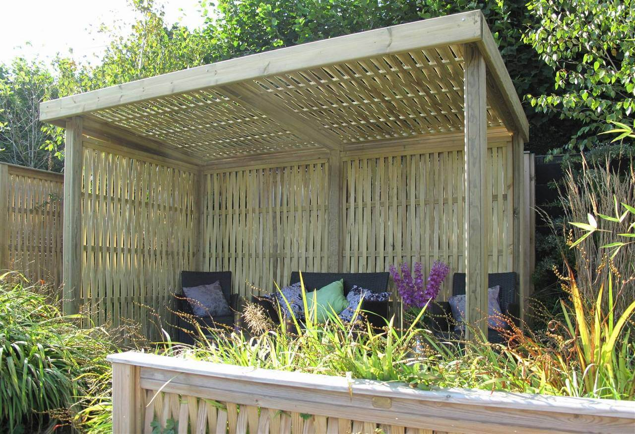 Woven Retreat contemporary garden shelter