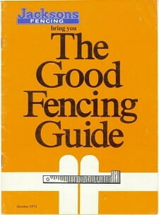 The Good Fencing Guide in 1970s