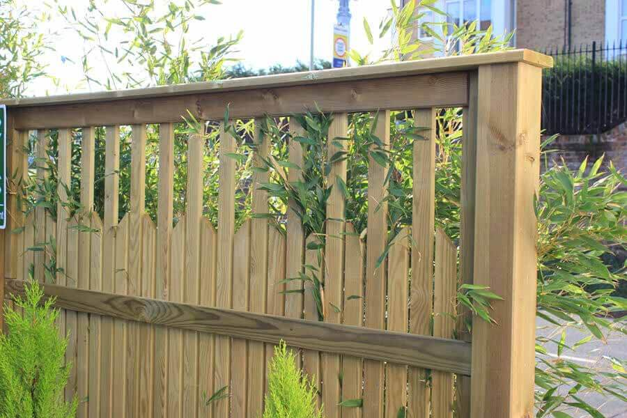 Growing plants with fencing