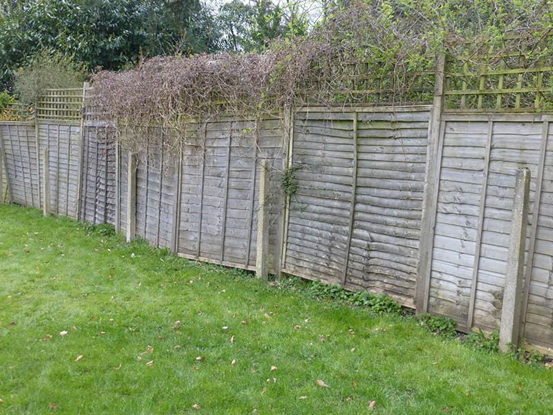 before fence installation