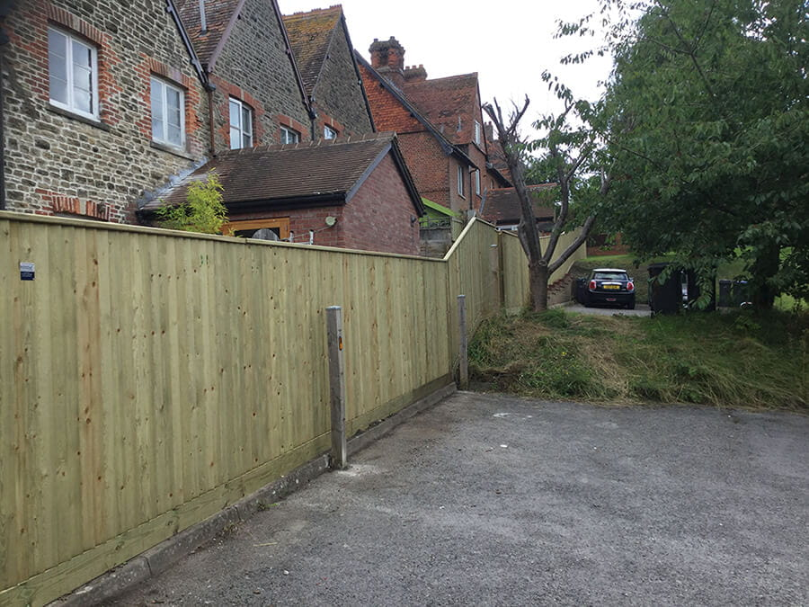 Traditional closeboard fencing