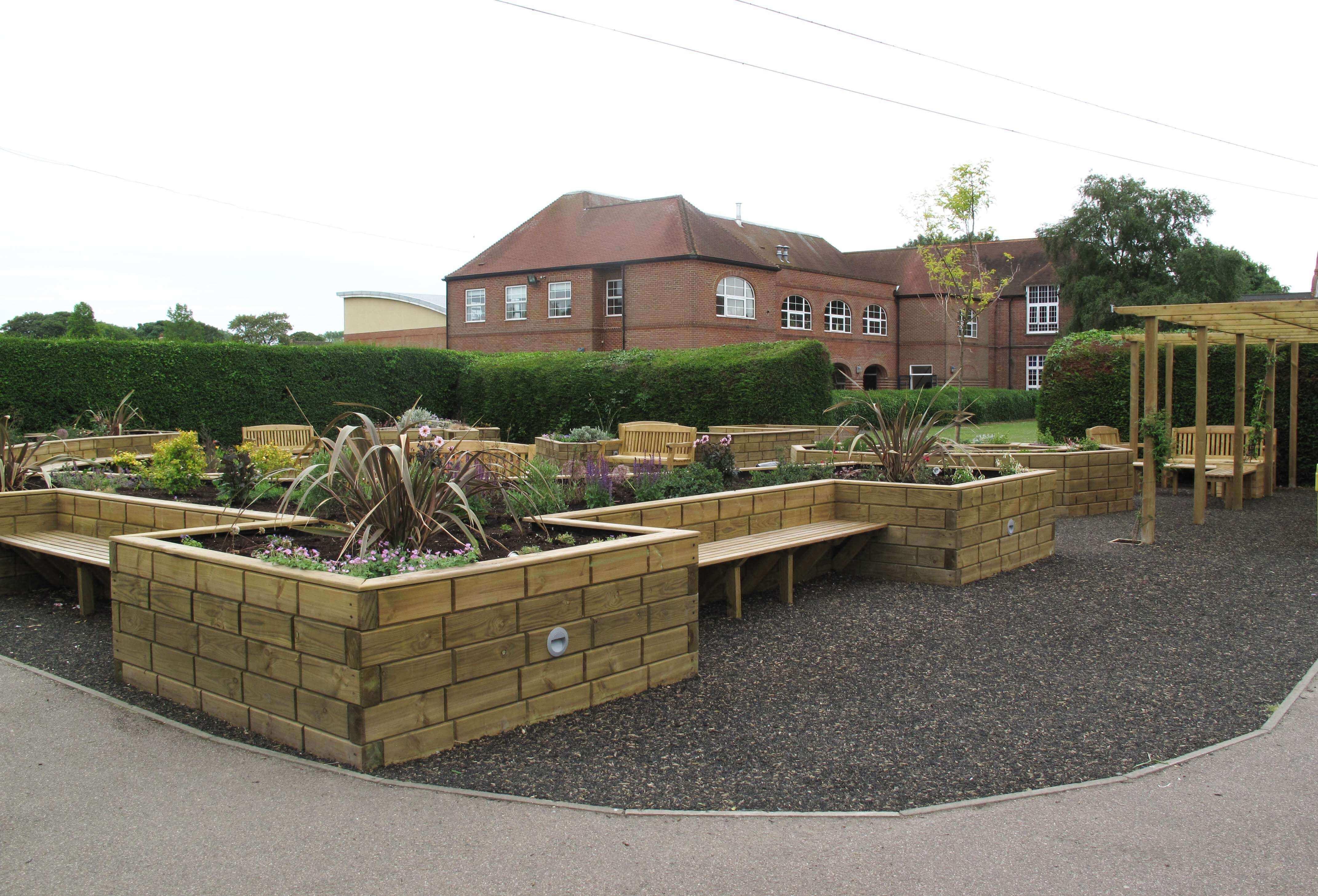 Wooden Garden Retaining Wall