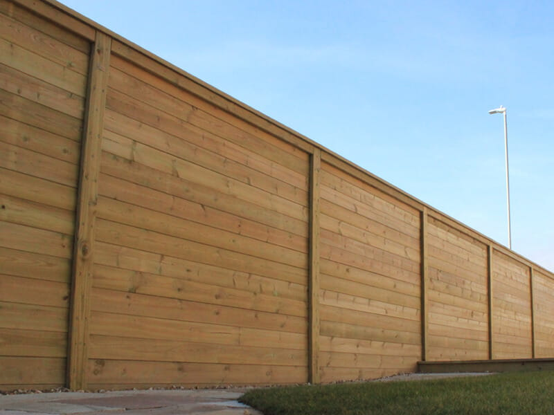 Acoustic fencing housing