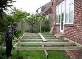 preparing the frame and joists