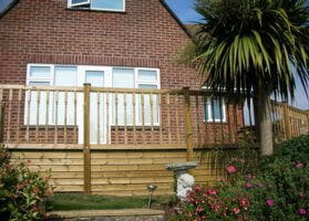 Raised Decking and Balustrade