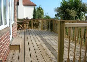 Raised Garden Deck