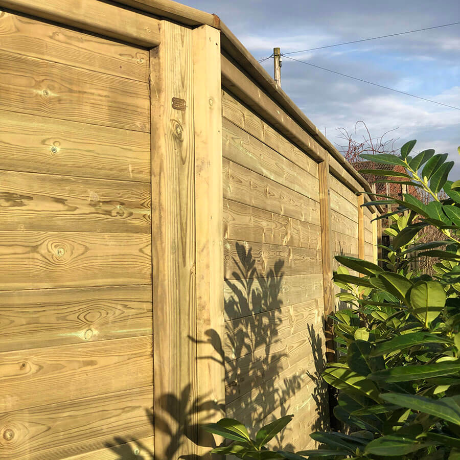 solid timber privacy fence