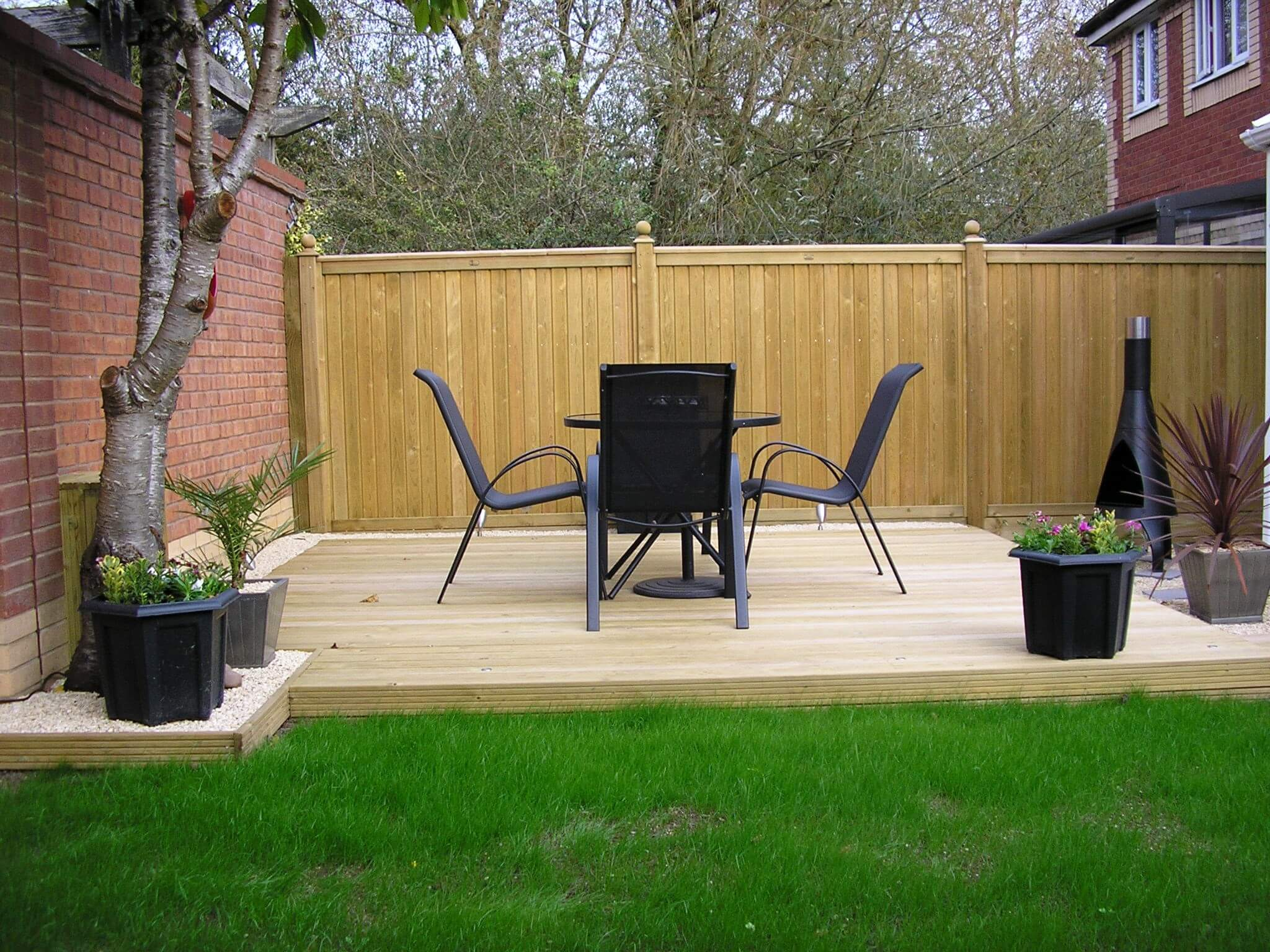 fence and decking complete garden design