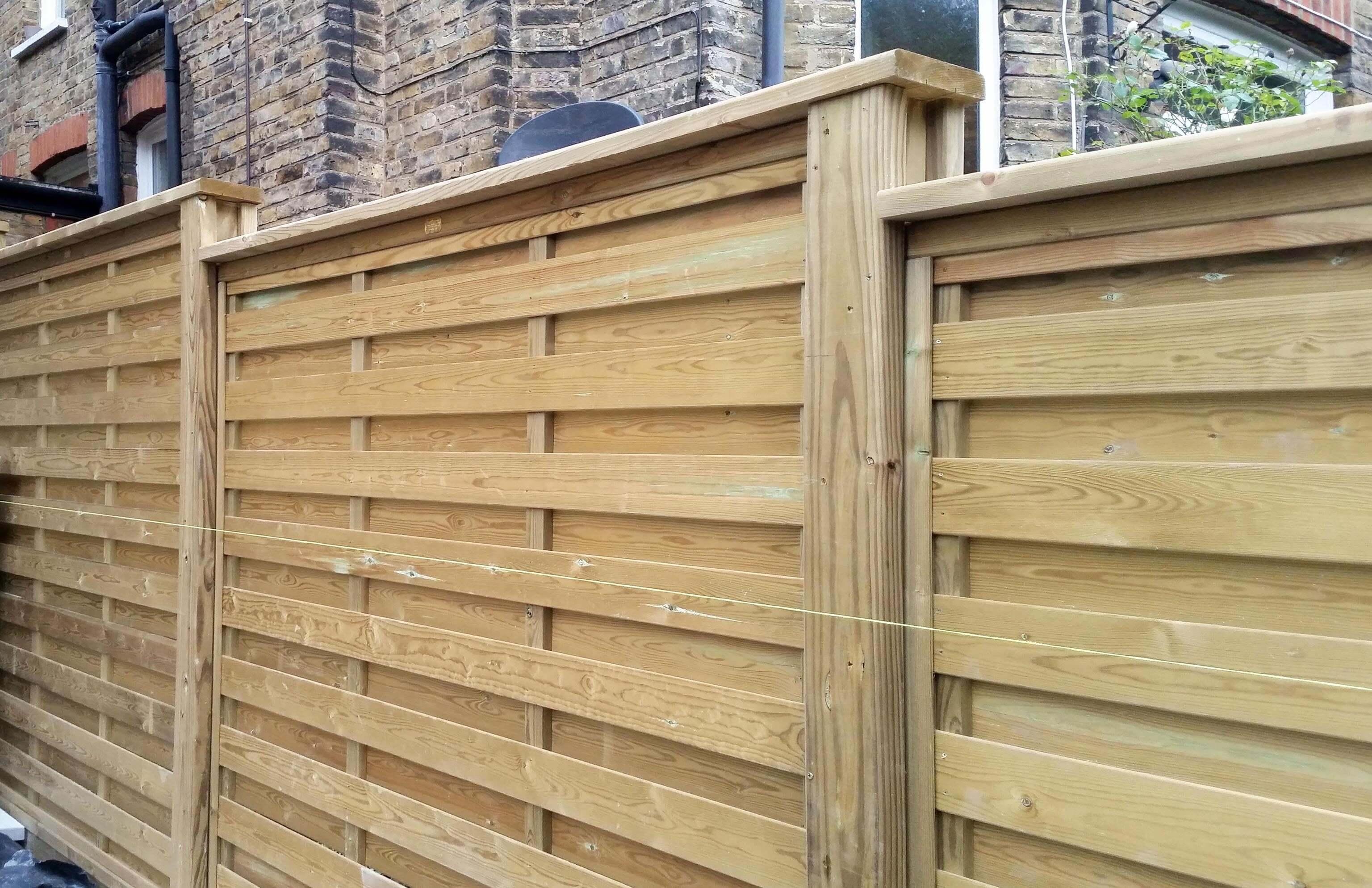 Preferred Horizontal Wood Fence Panels. Image Of: Horizontal Fence Panels  LM57
