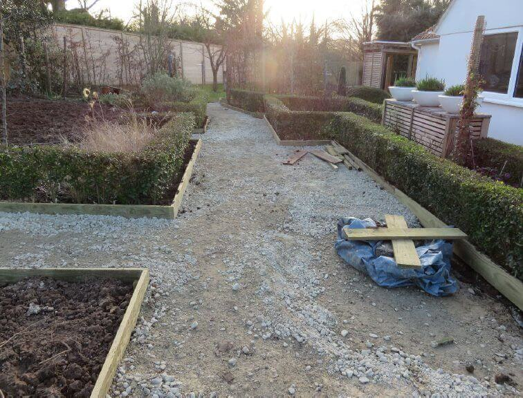 paths and beds work in progress