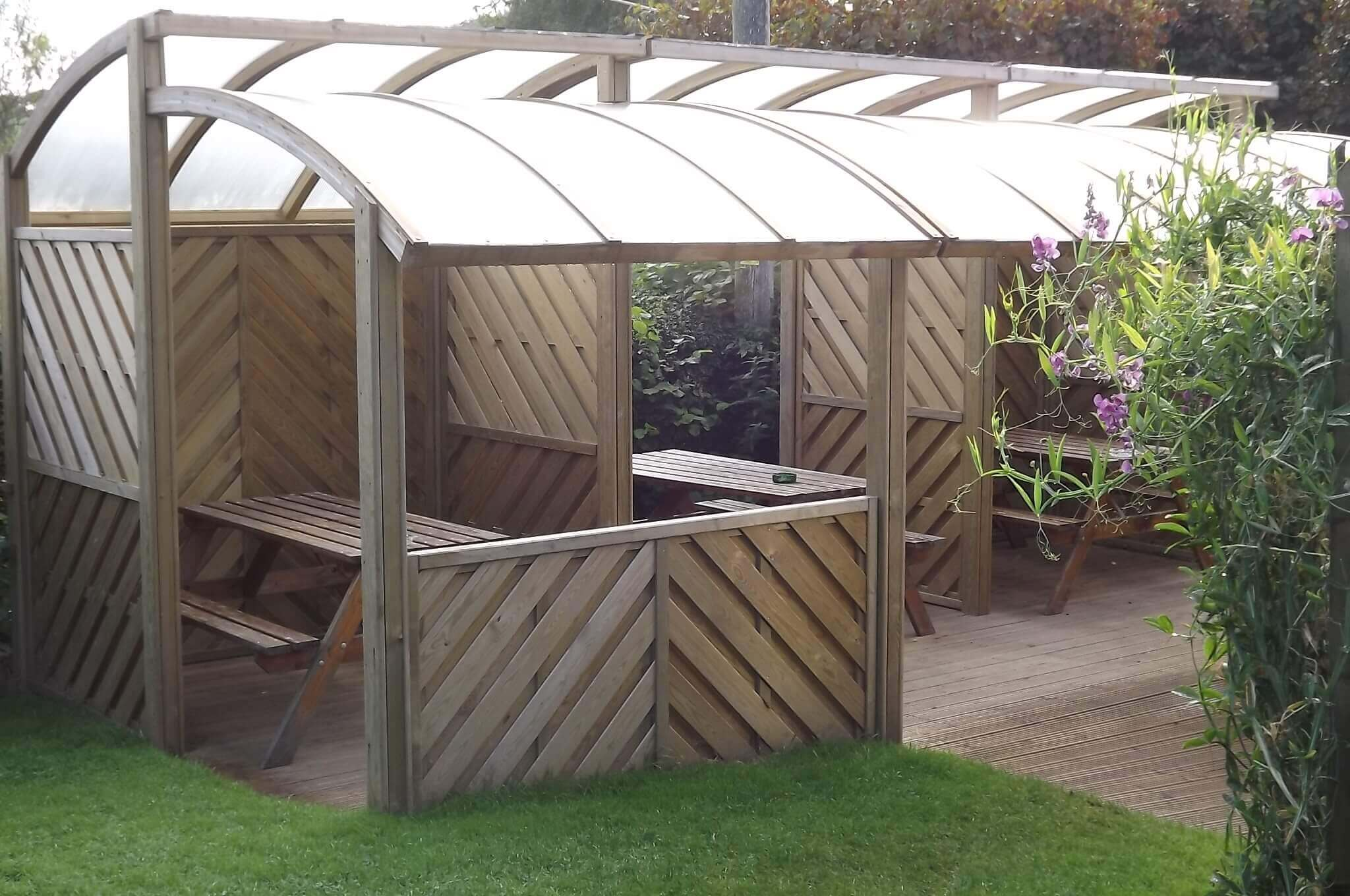 Timber garden Shelters