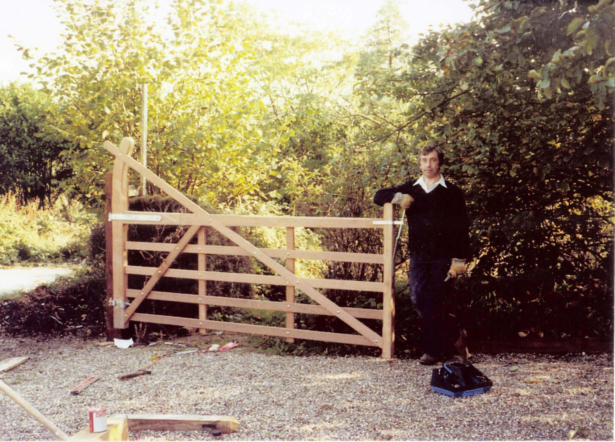 richard and old Jacksons entrance gate in 1982