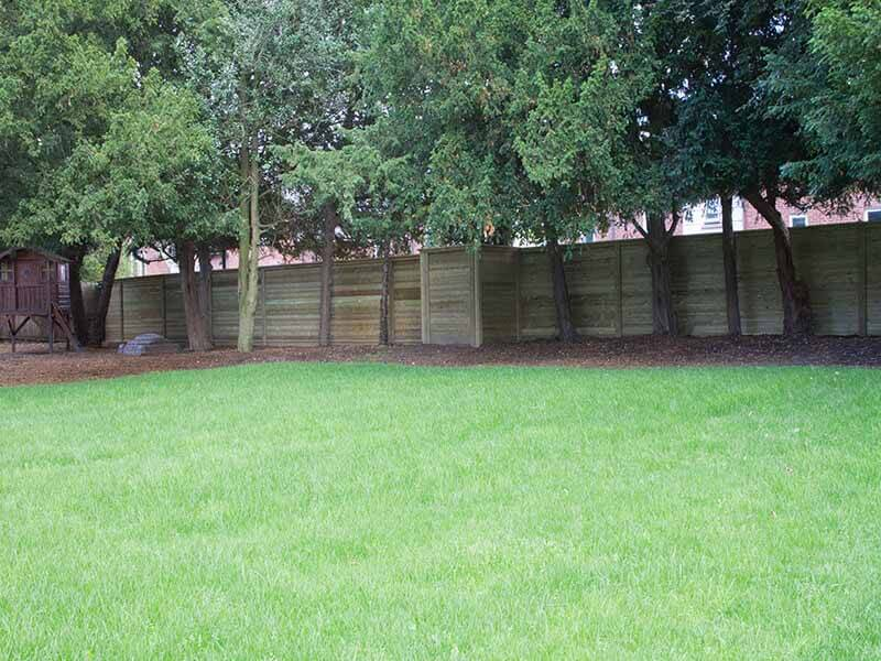 acoustic fence in residential area