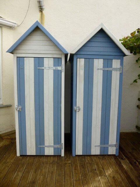 tool sheds become beach huts