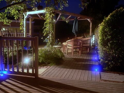 Pergola Balustrade and Deck at night