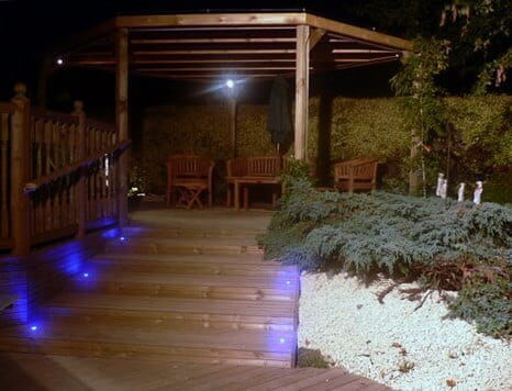 Timber Pergola at Night