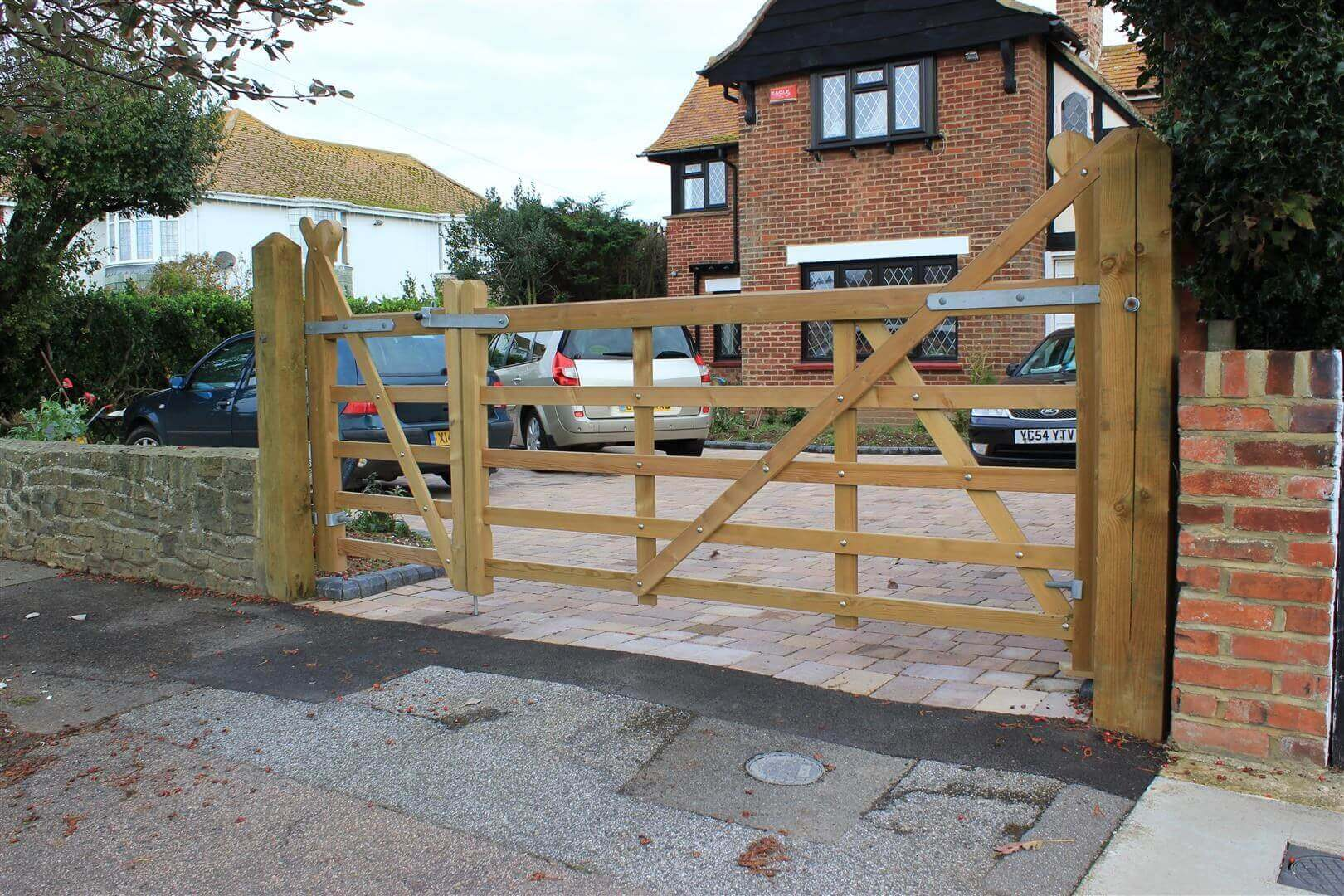 Timber entrance gate