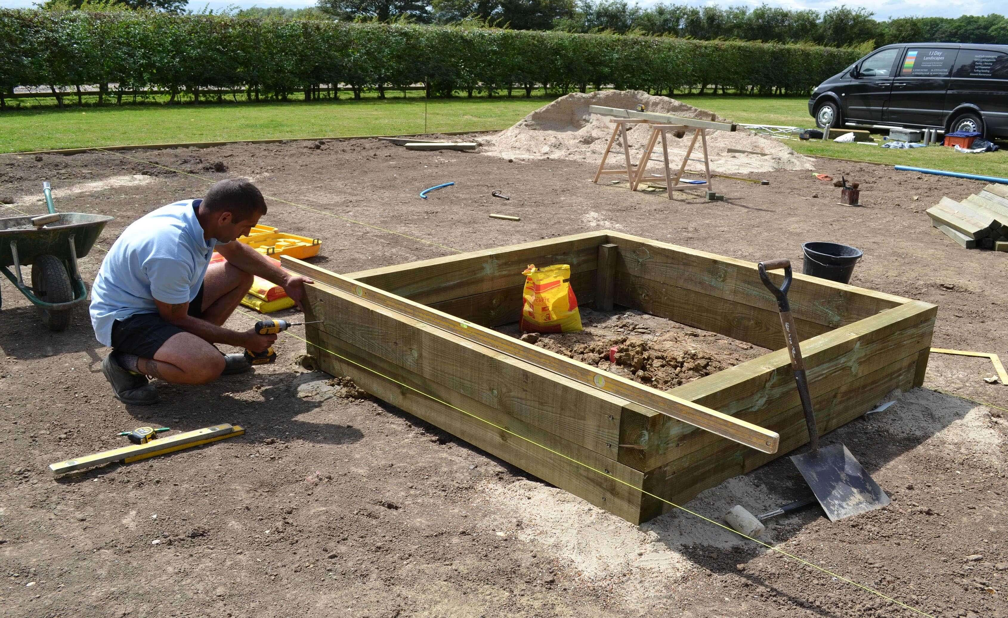 creating raised bed