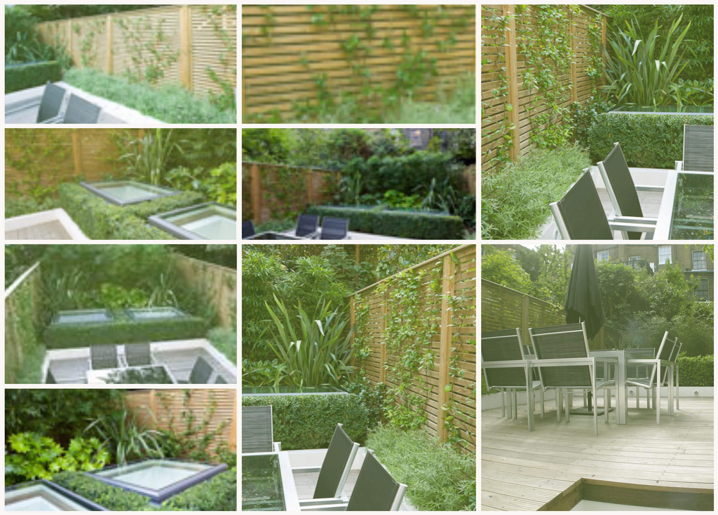 Venetian Panels in Chelsea London Courtyard