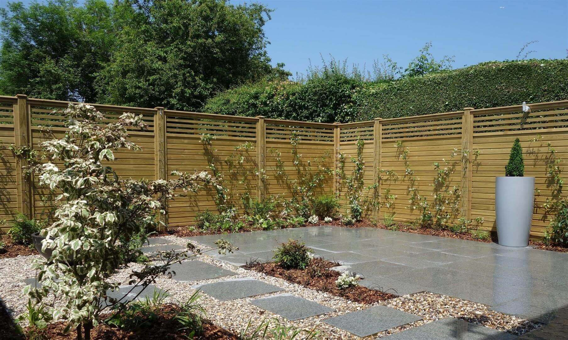 Canterbury Combi Contemporary Fencing panels