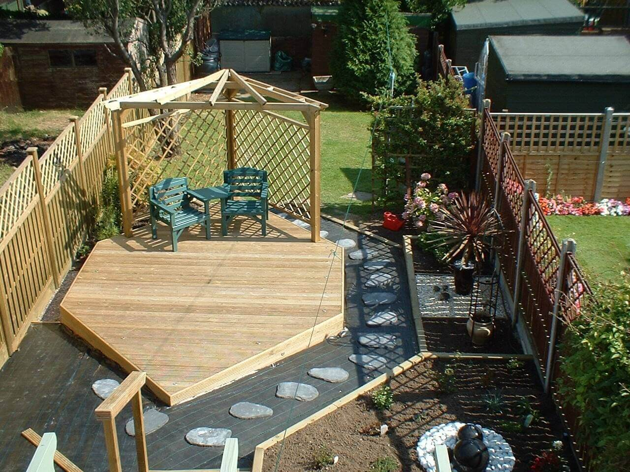 Garden Decking from above