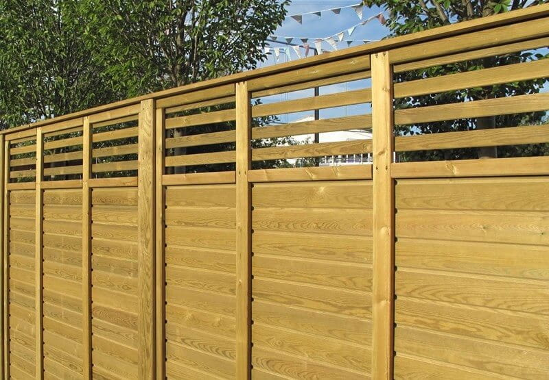 Rear view of Canterbury Combi fence panel