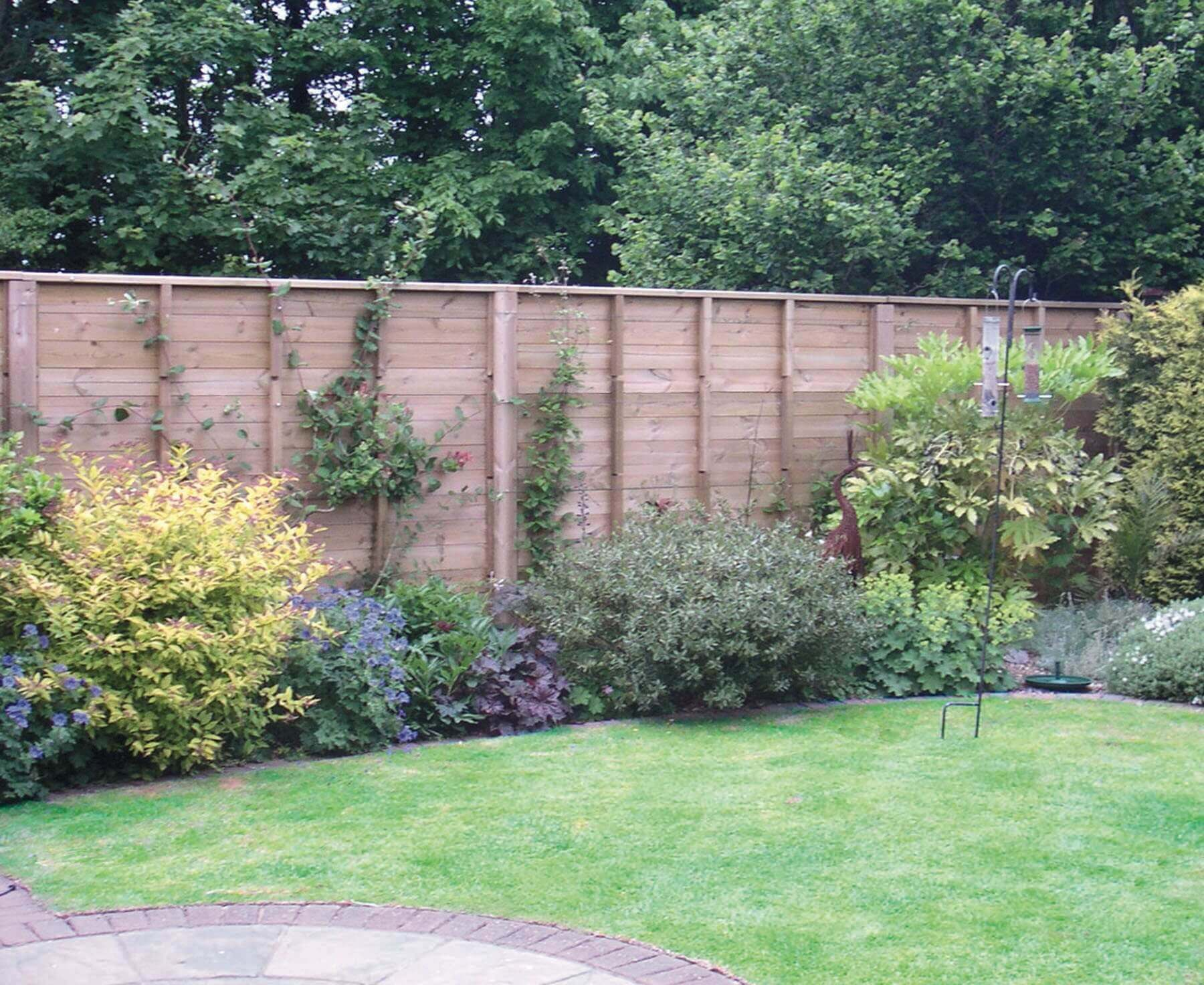 Jacksons acoustic fence in garden