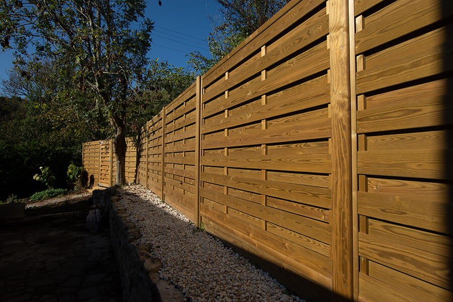 Hit and Miss timber fence panels