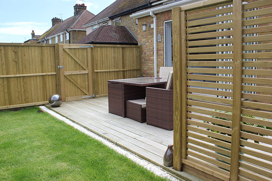 Slatted fence panels garden screens