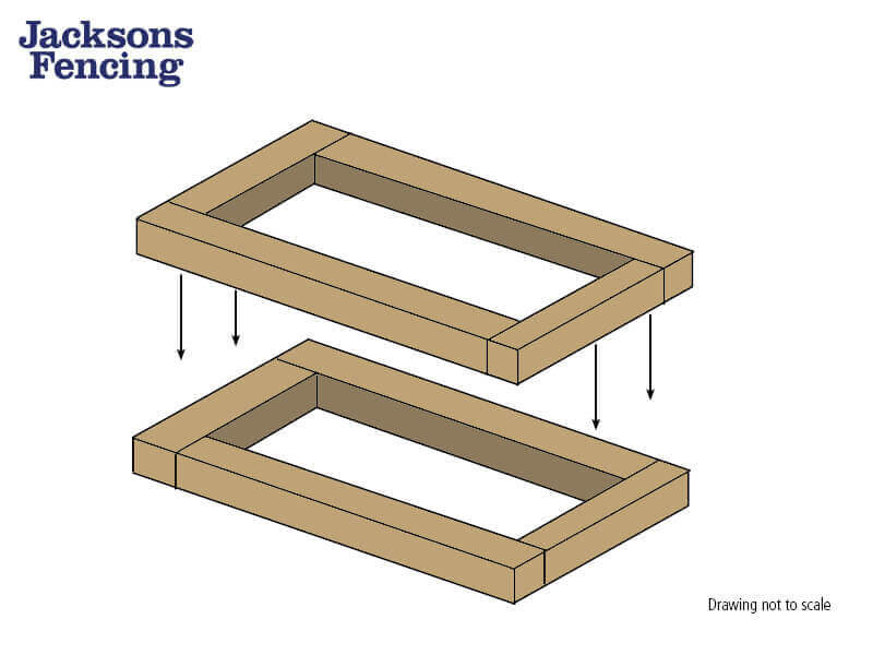 How to build a raised garden bed with sleepers