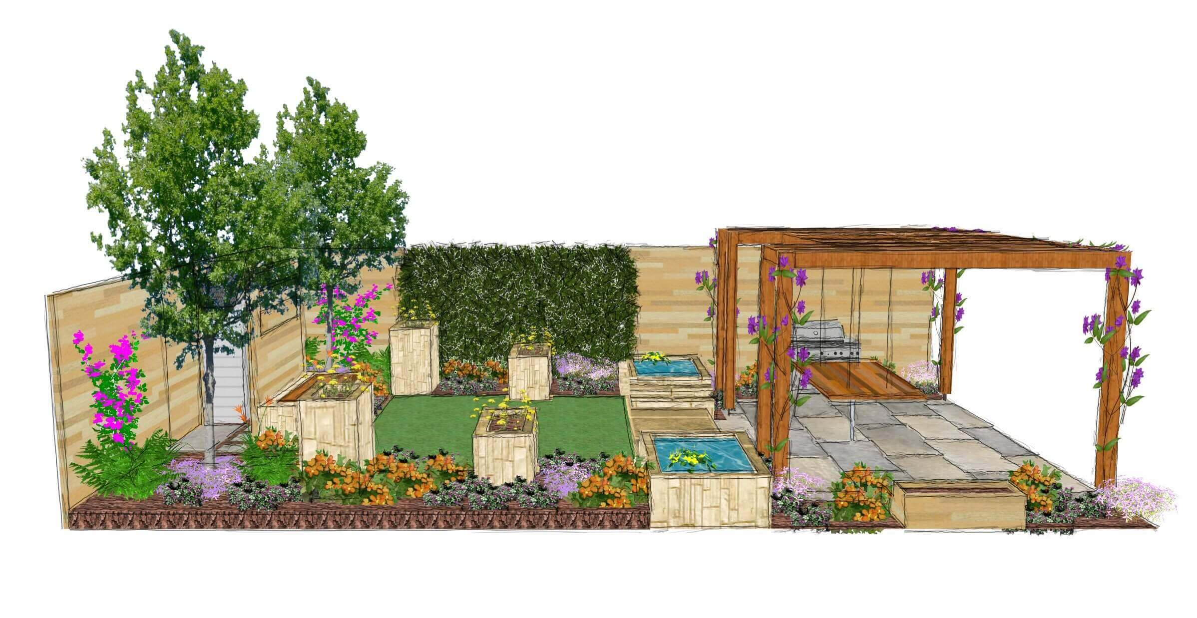 Painted garden design