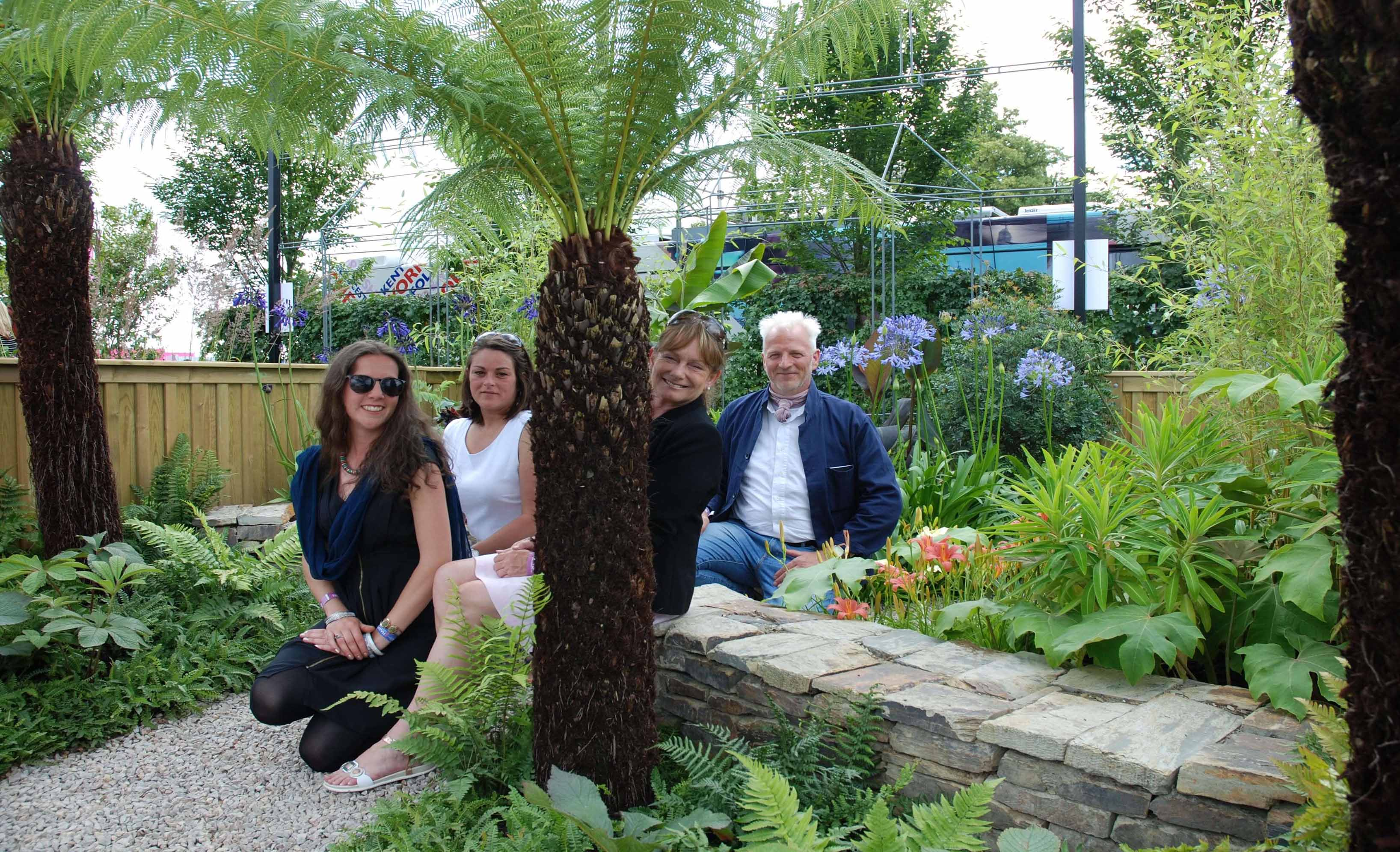 Tre Wostiweth crew in their Cornish garden