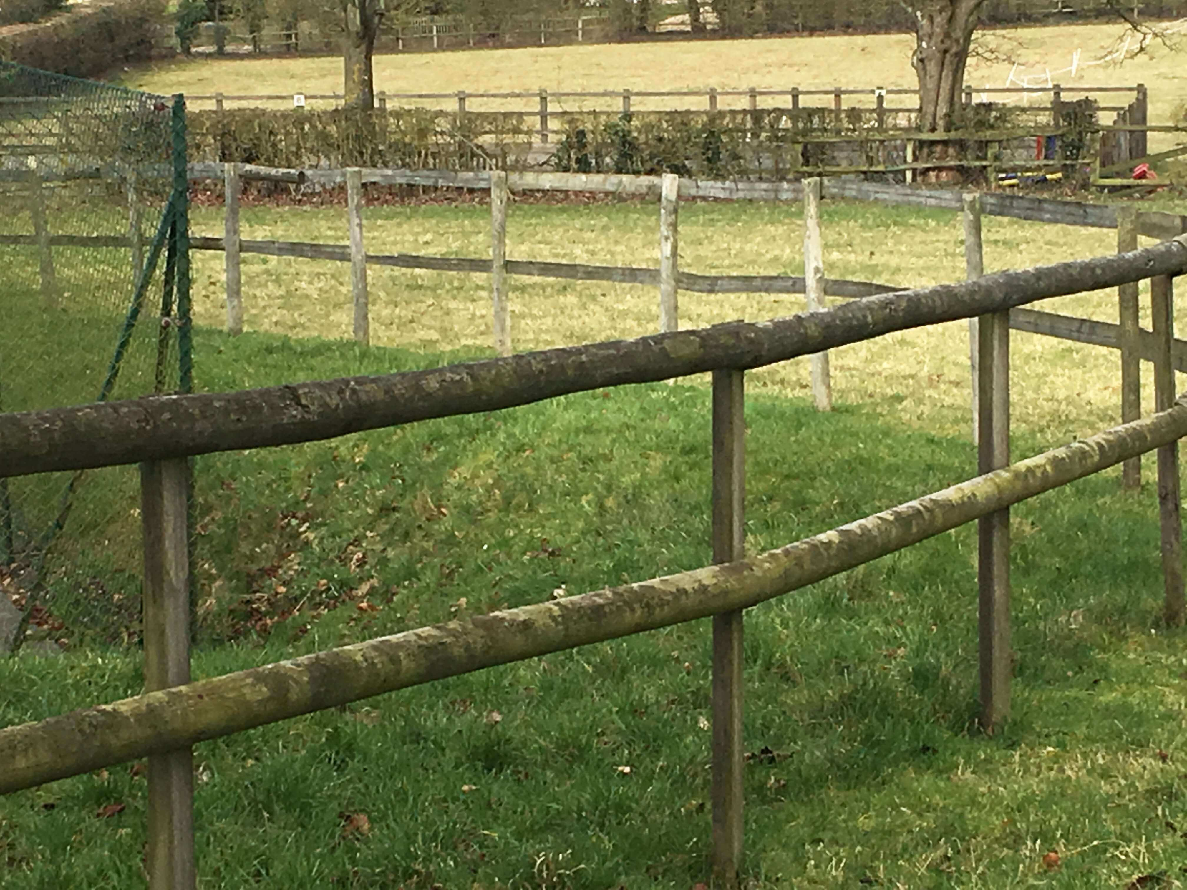 lovely old post and rail fencing circa 1967