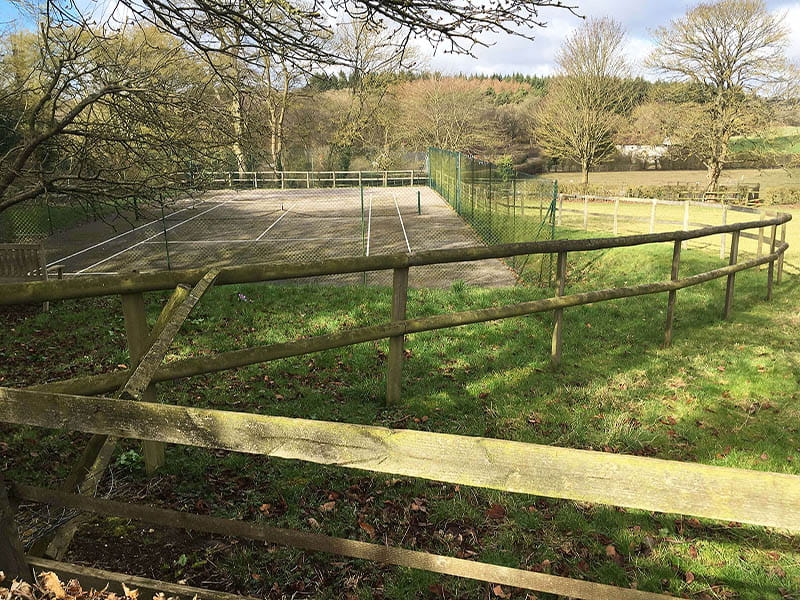 Post and rail fencing installed 1967