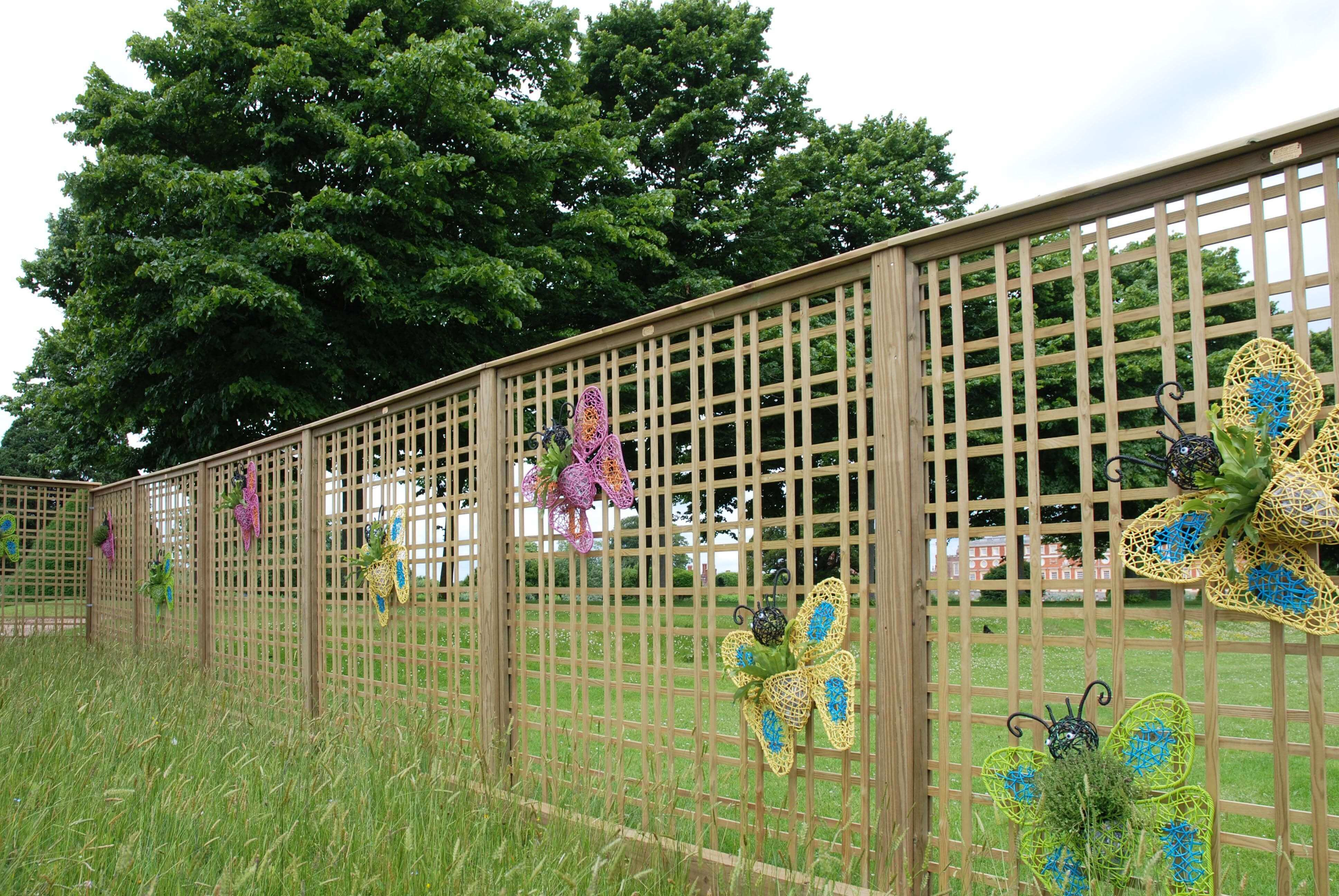 Hampton court Tartan trellis butterfly enclosure