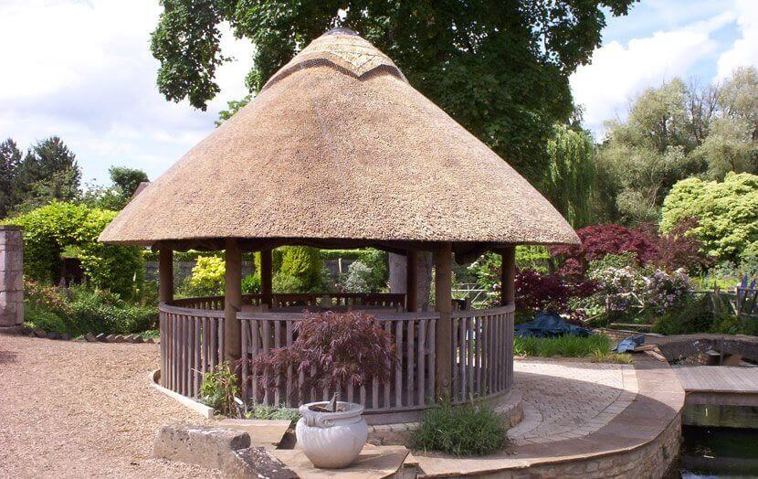 Thatched Hut in garden