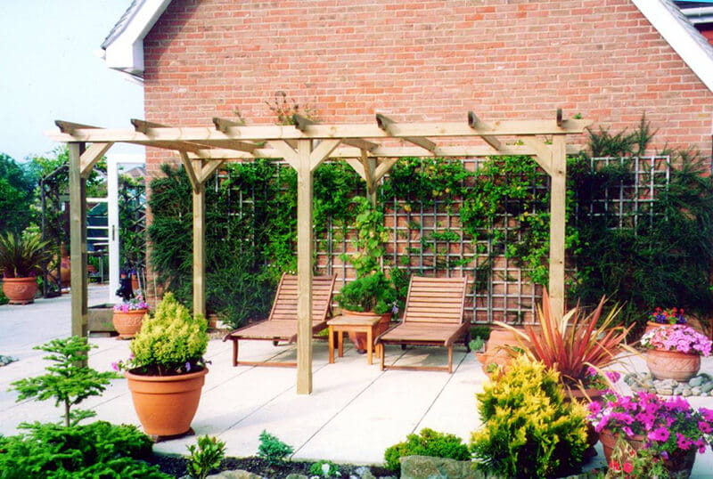 Create sheltered seating areas using a pergola
