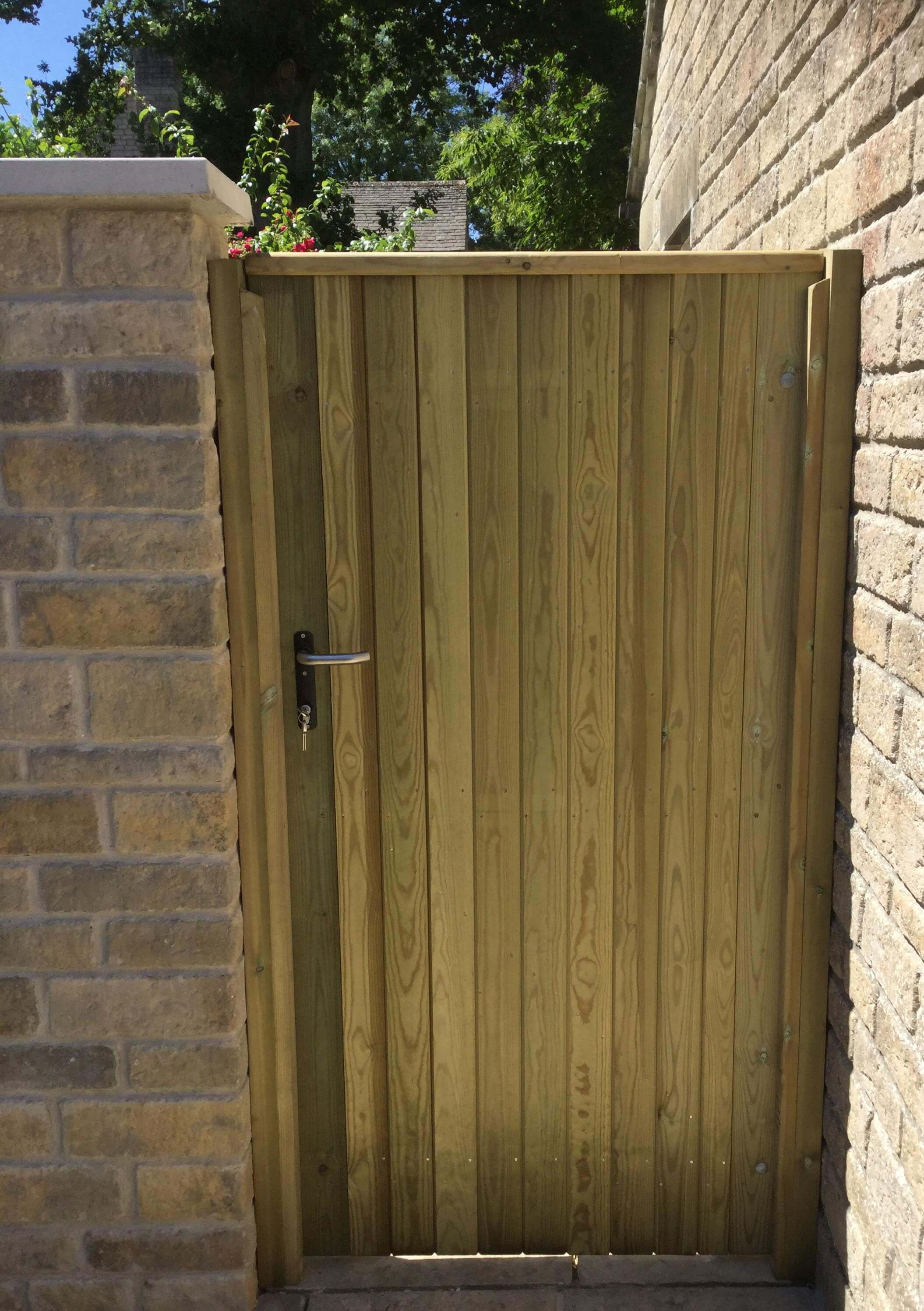 Brook Flat Top Tall Wooden Gate Jacksons Fencing