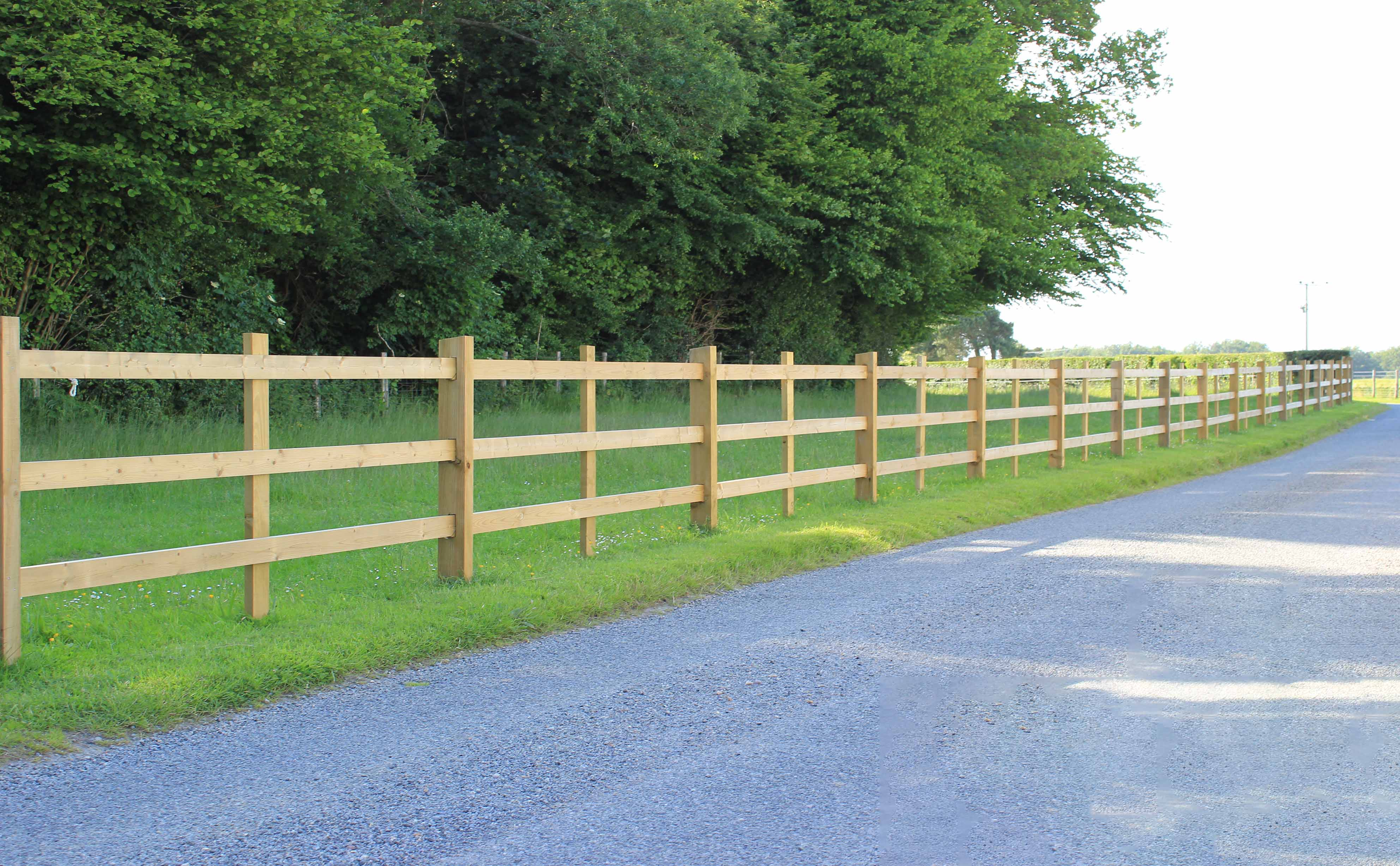 Agricultural Post and Rail Fence