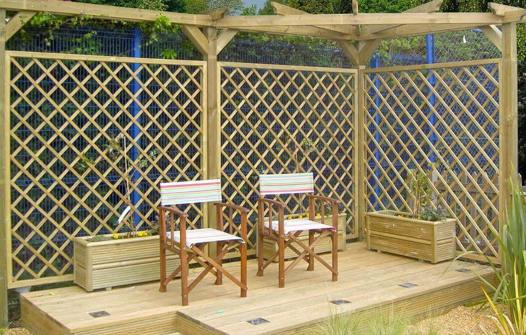 Corner Pergolas and decking