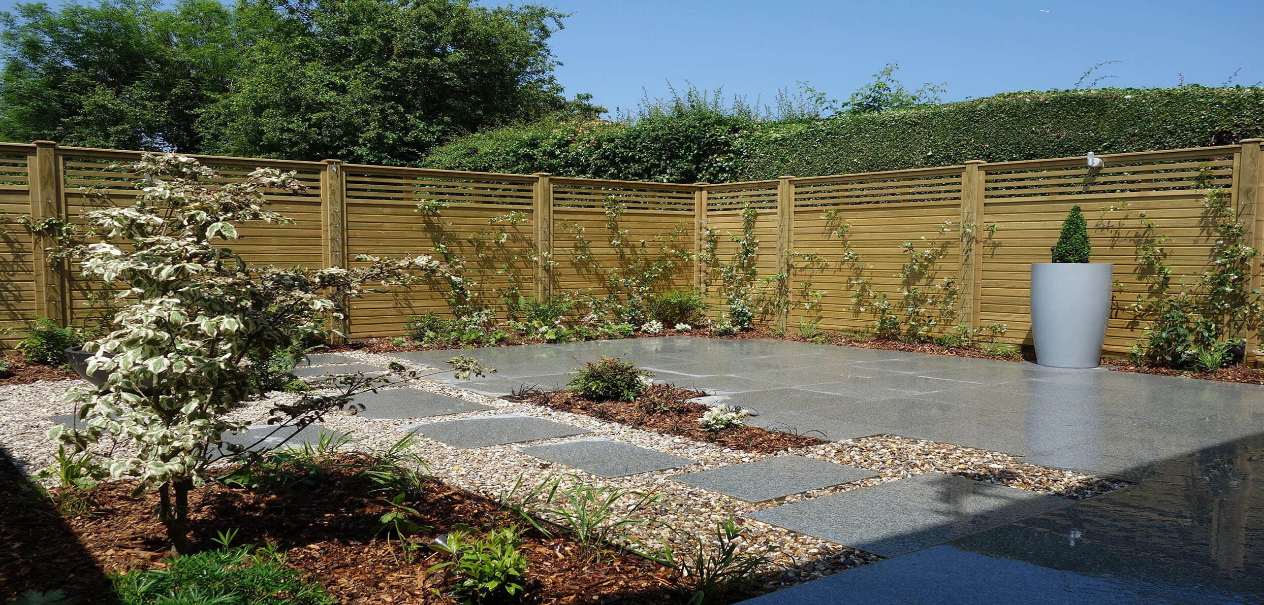 Garden Fencing in the sun