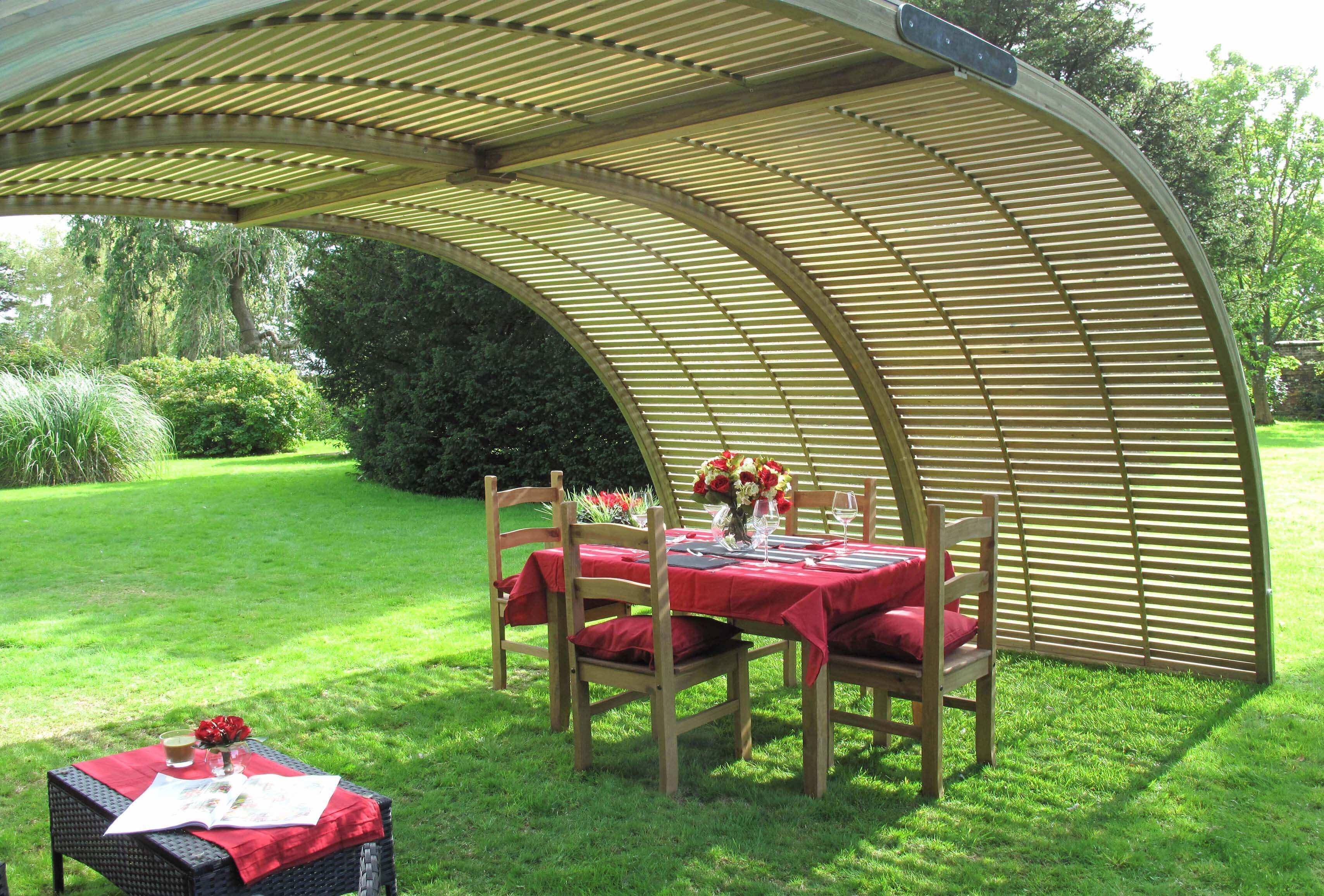 The curve garden shelter