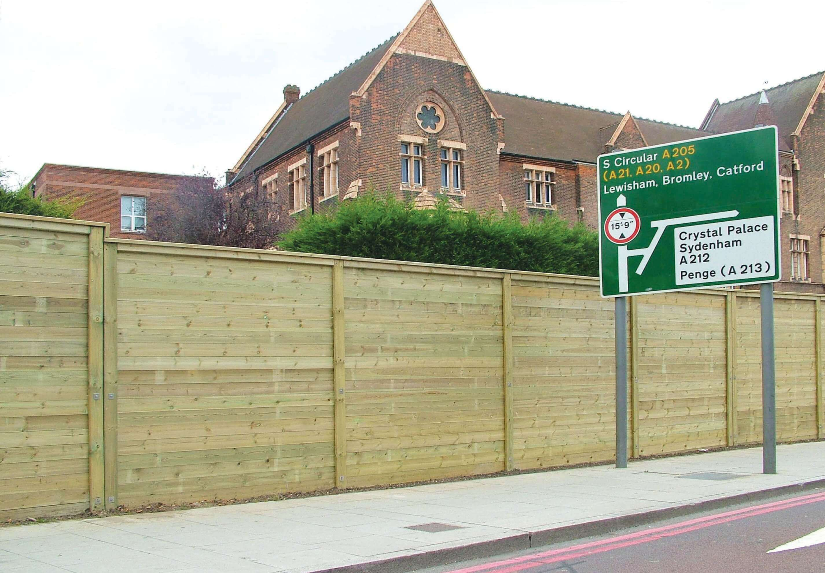 Timber Acoustic Fence