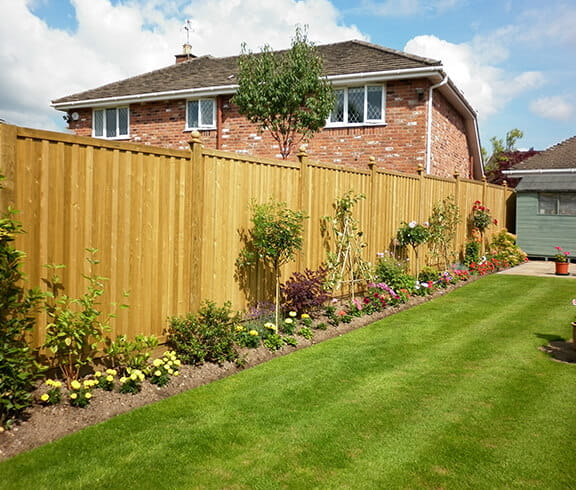 Timber garden fence panels