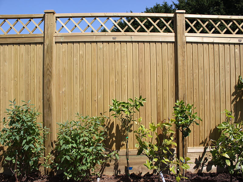 Tongue and Groove panel with Diamond Trellis topper