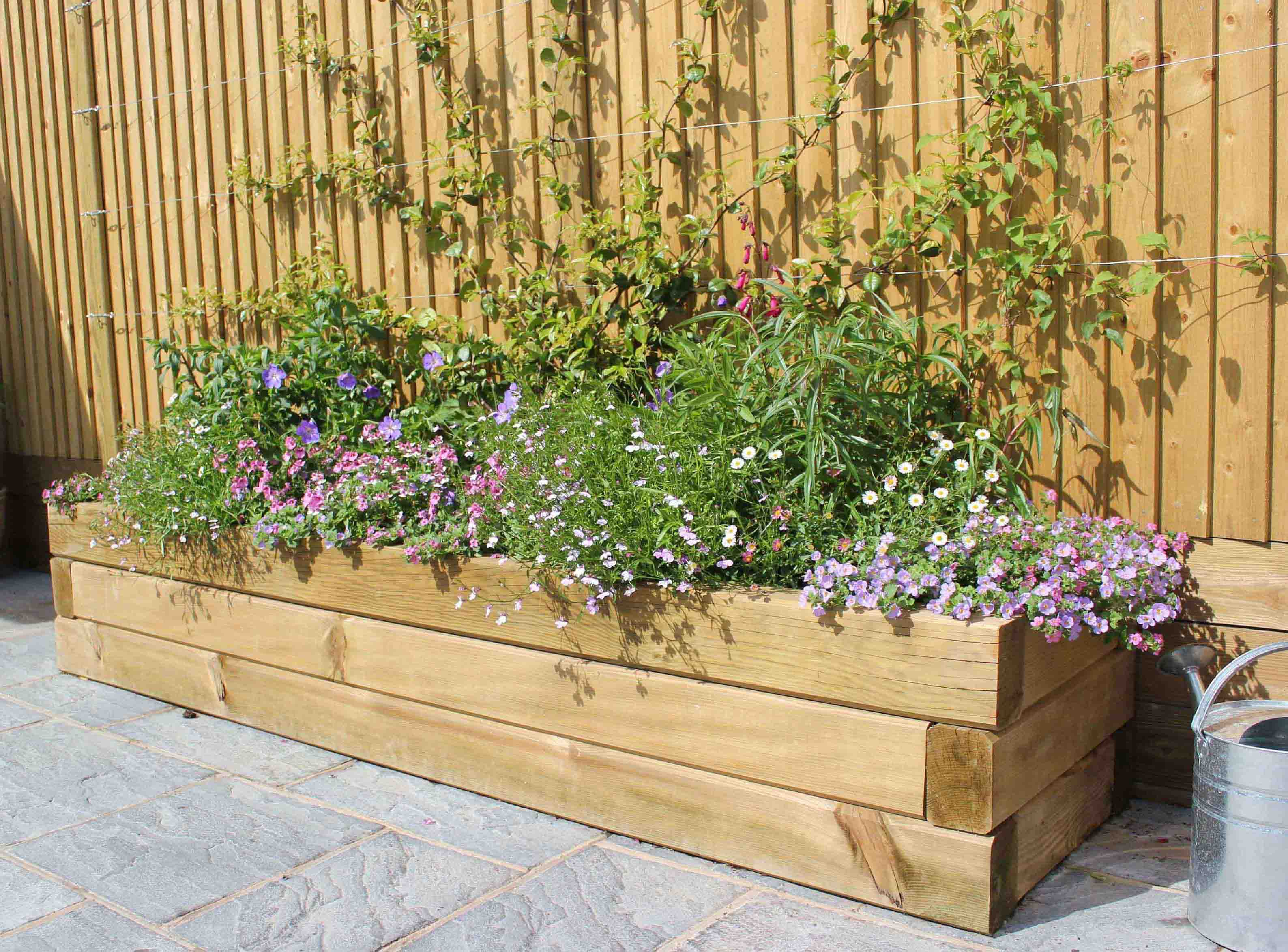 Picture of: How To Build A Raised Garden Bed With Sleepers Jacksons Fencing